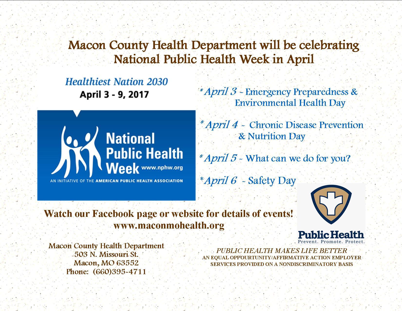 Public health week facebook