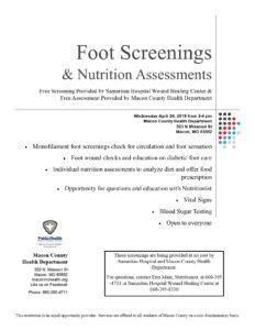 Free foot & nutrition assessments