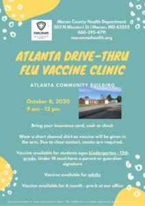 Atlanta Drive-Thru Flu Vaccine Clinic @ Atlanta Community Building