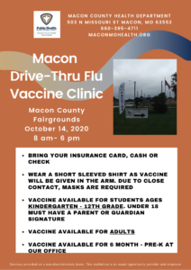 Macon Drive-Thru Flu Vaccine Clinic @ Macon County Fairgrounds